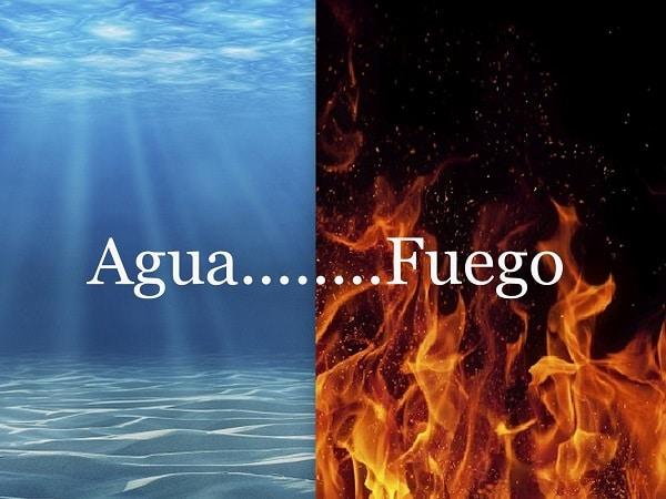 elemento agua, elemento fuego