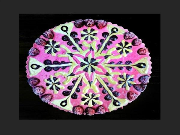 pastel decorado con un mandala