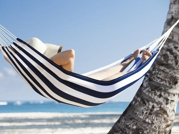 hamaca, playa, siesta