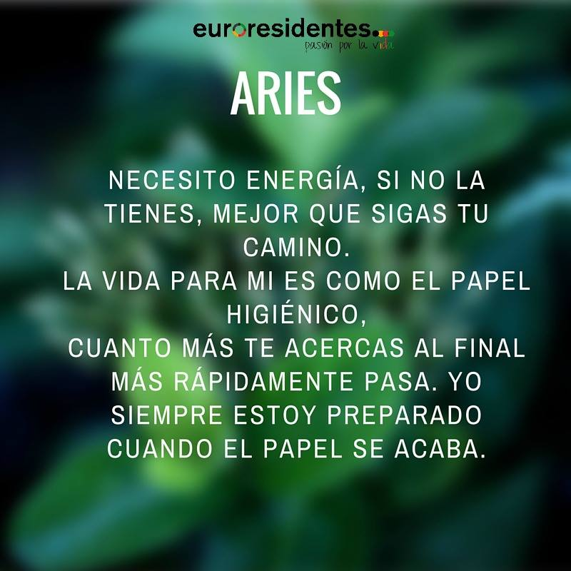 Horóscopo sincero de Aries
