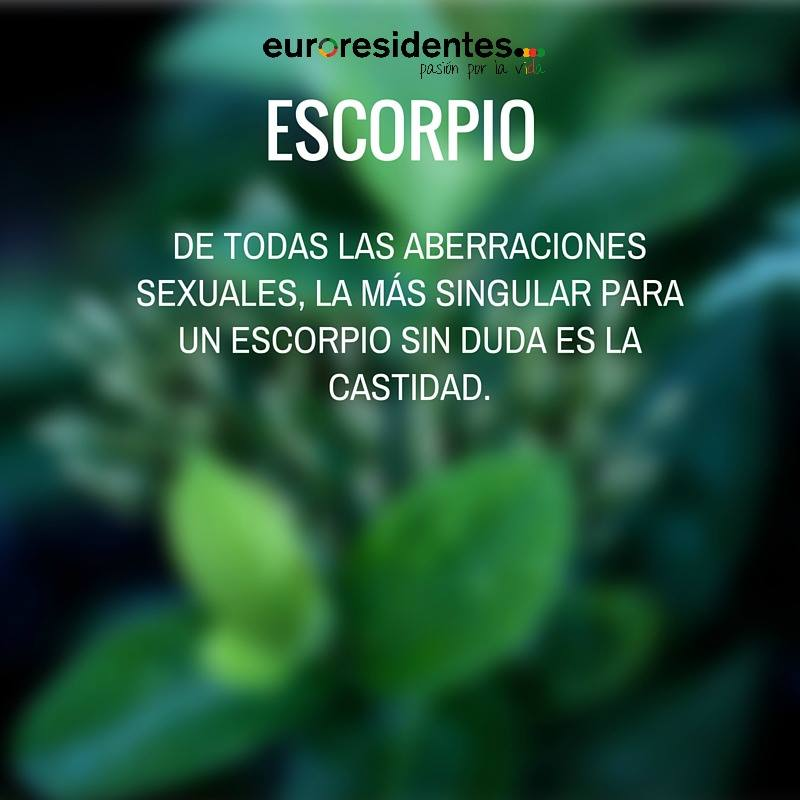 Horóscopo sincero de Escorpio