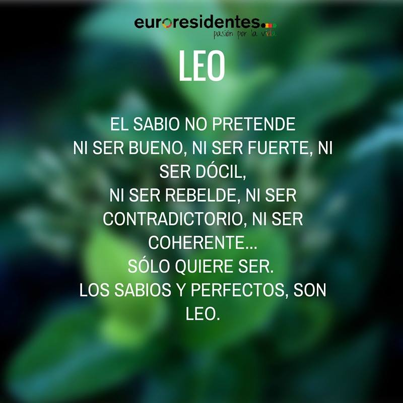 Horóscopo sincero de Leo
