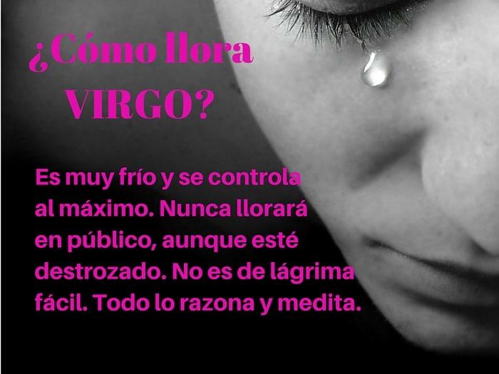 ¿Cómo llora Virgo?