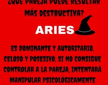 ¿Sería Aries una pareja destructiva?