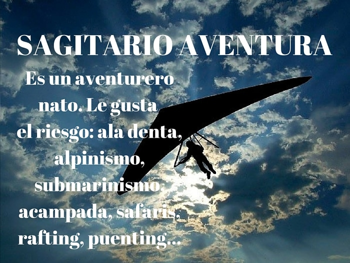 Sagitario aventurero