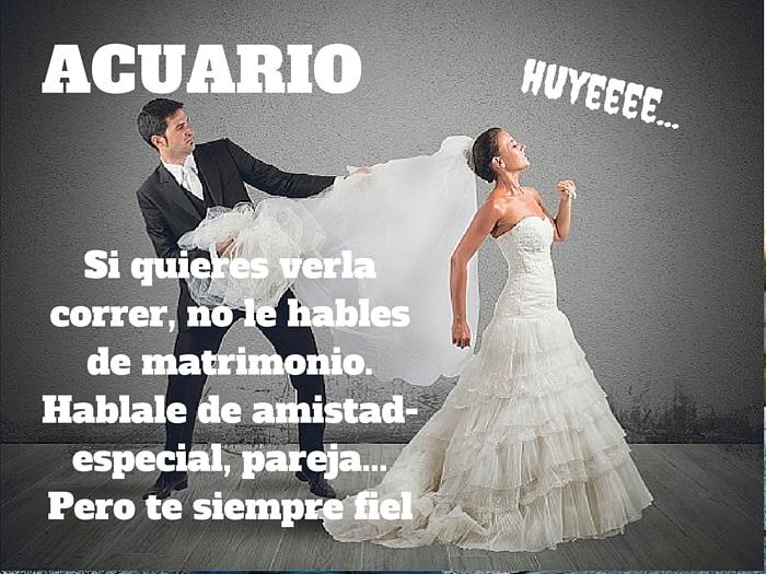 Acuario y el matrimonio
