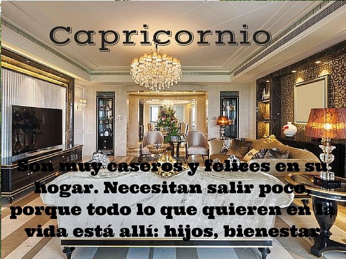 ¿Como es el hogar de Capricornio?