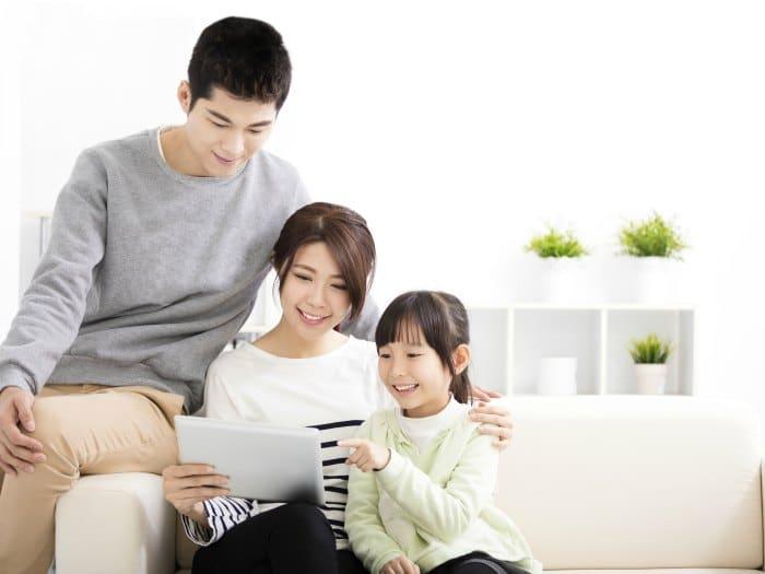 Familia tranquila y casera
