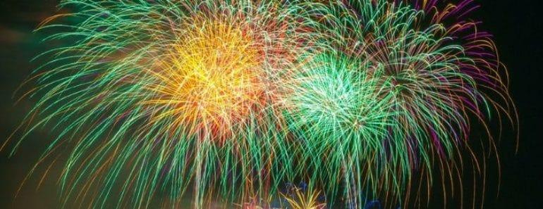 Fuegos artificiales de la Noche de San Juan