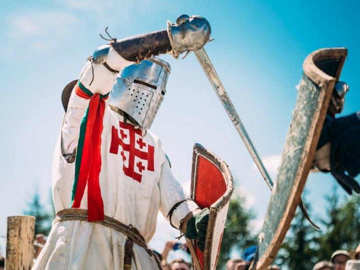 Lucha con espada Edad Media