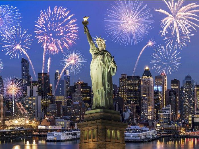 Estatua de la Libertad, skyline New York