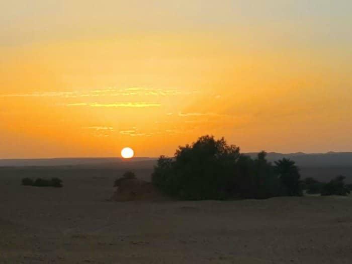 Puesta de Sol, desierto Timimoun Sahara, Argelia