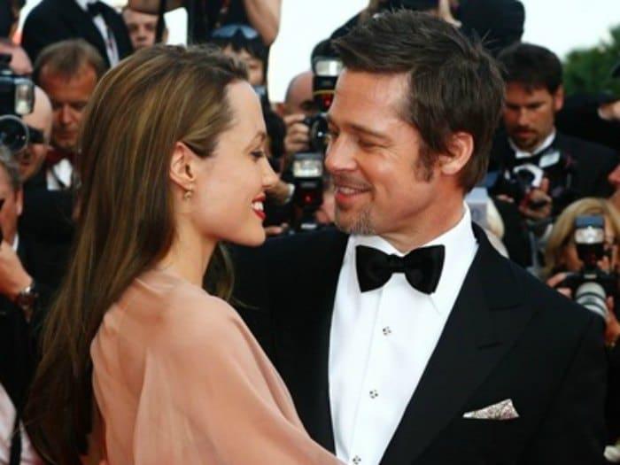 Brad Pitt y Angelina Jolie: Fuente: Pinterest