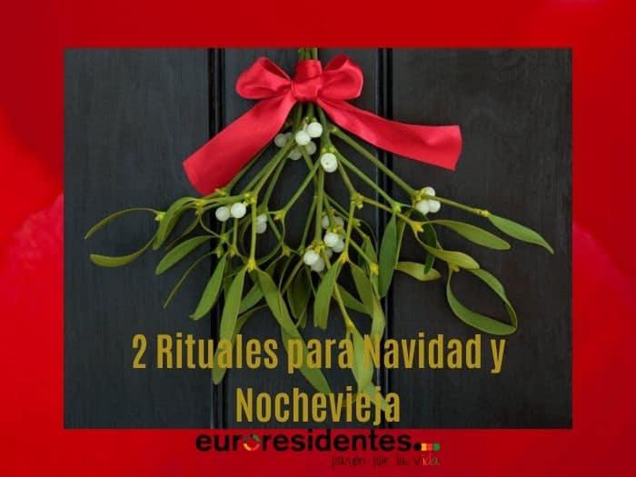 2 Rituales de la suerte para Navidad y Nochevieja: brindis y muérdago