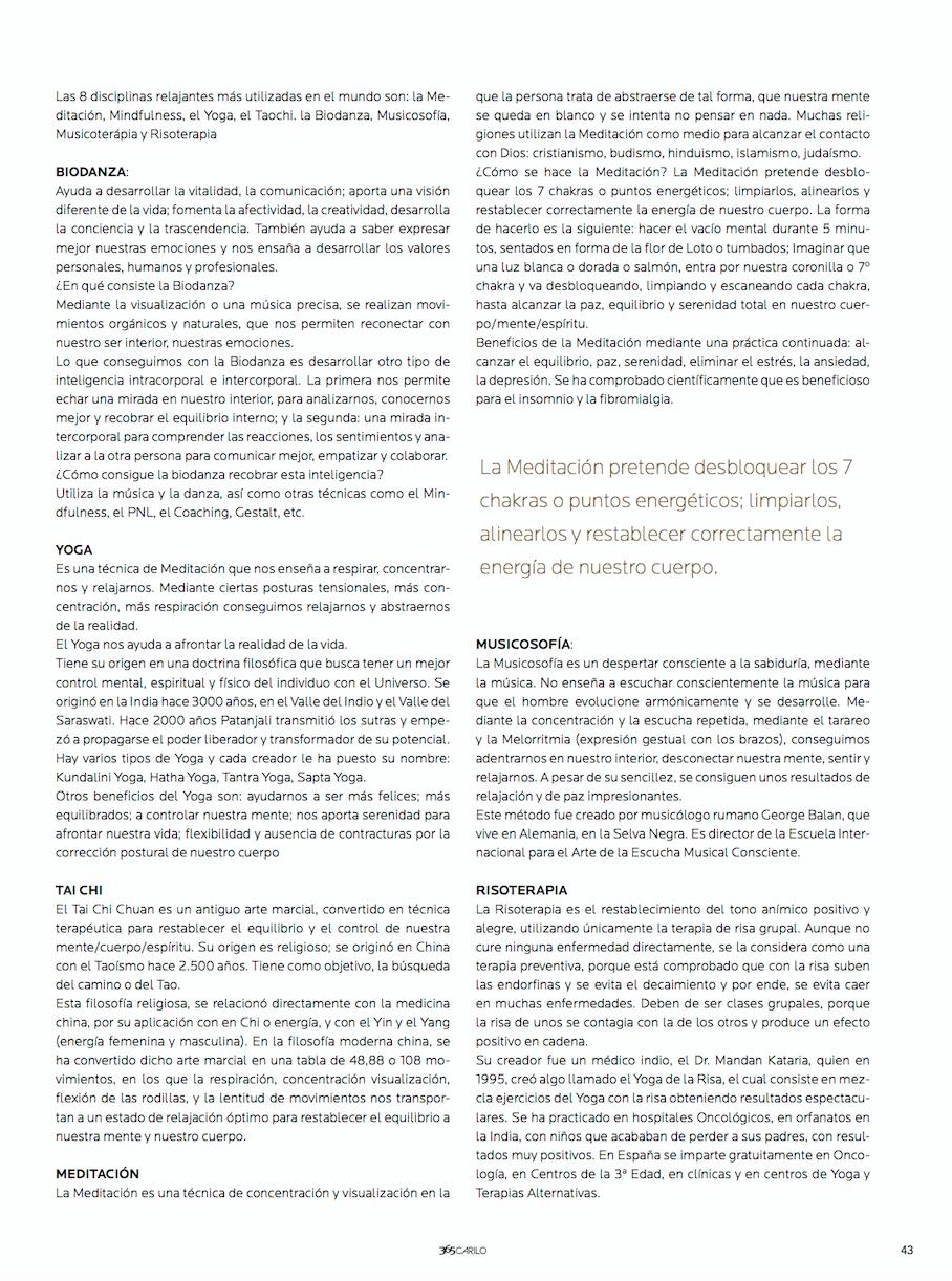 Entrevista a Chloé por la revista 365 Cariló