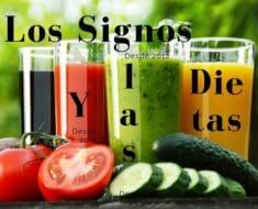 Los Signos y su relación con las Dietas alimenticias