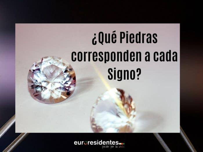 ¿Qué Piedras corresponden a cada Signo?