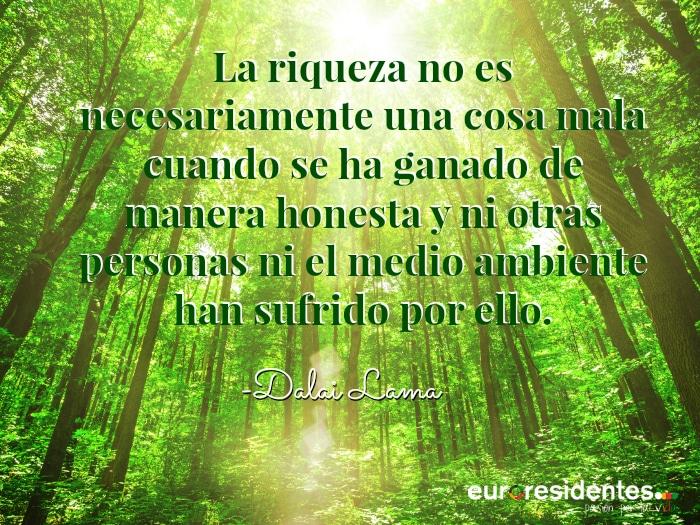 Frase Dalai Lama medio ambiente