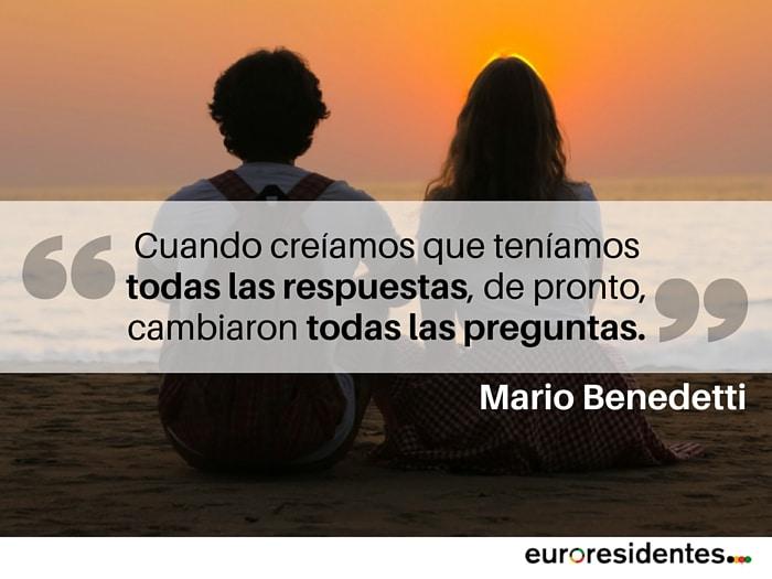 cita Mario Benedetti preguntas