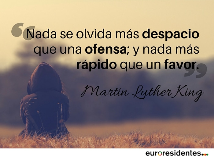olvidar citas Martin Luther King Euroresidentes
