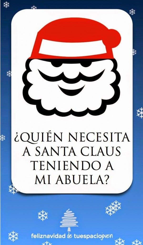 tarjeta navidad para la abuela