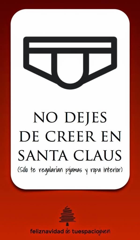tarjeta navidad creer