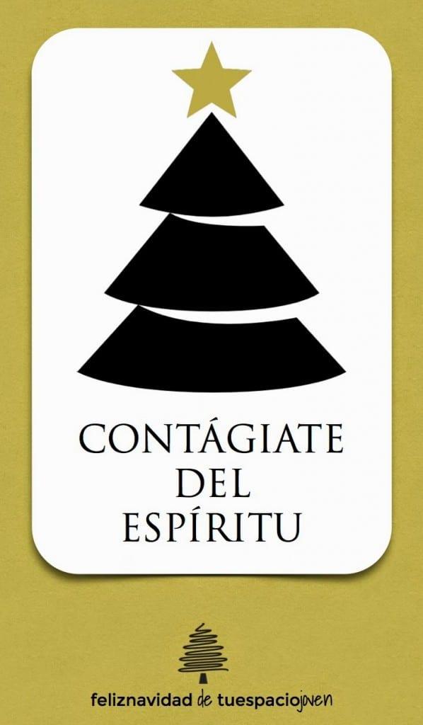 tarjeta espiritu navideño