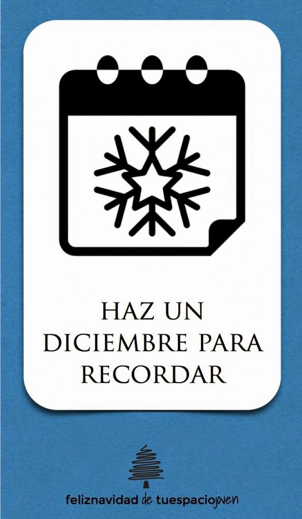 tarjeta de navidad diciembre