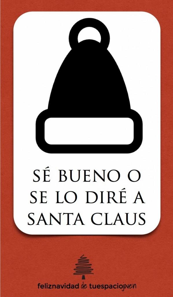 tarjeta de navidad se bueno