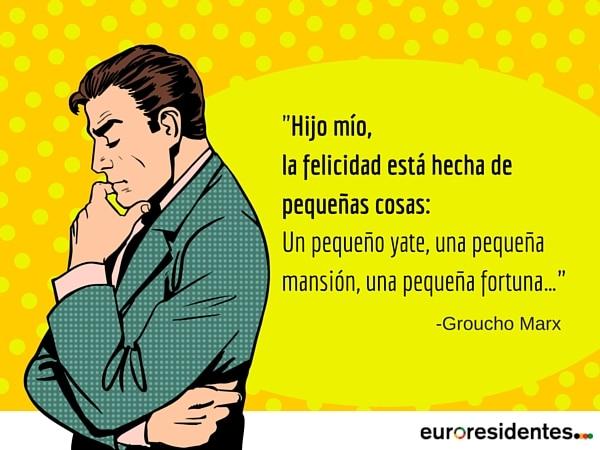la felicidad Groucho Marx