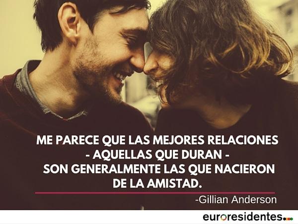 amor amistad frase Gillian Anderson motivación año nuevo