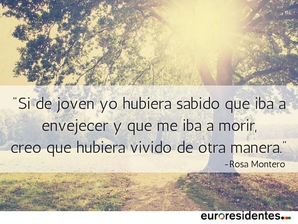 Rosa Montero vida tiempo