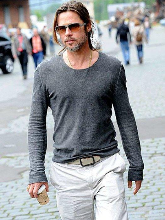 Brad Pitt desaliñado e irreconocible