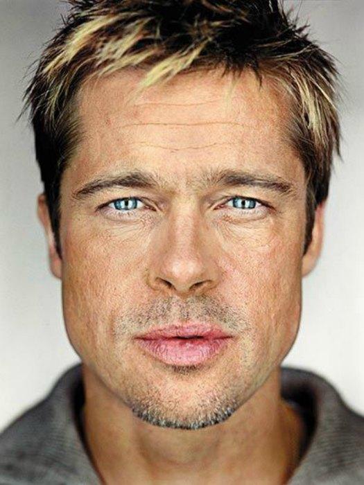 Brad Pitt caracterizado de malo