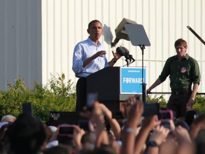 Barack Obama en un discurso