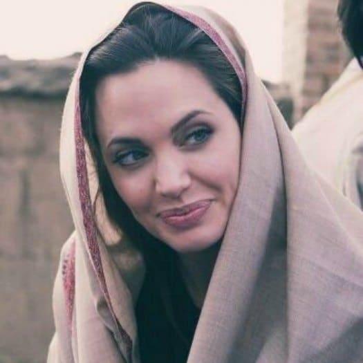 Angelina Jolie de rodaje