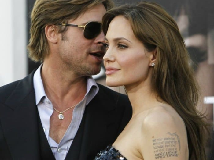 Angelina con su 3ª marido Brad Pitt