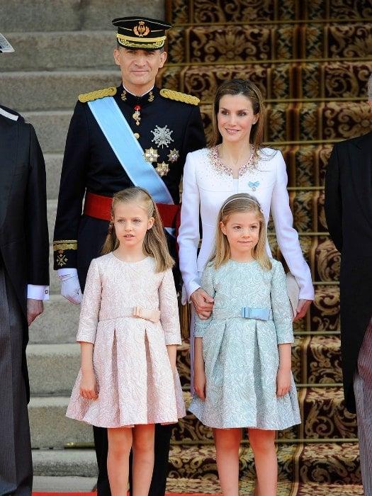 La familia Real el día de la Coronación