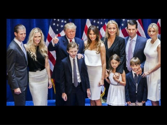 Donald Trump y familia