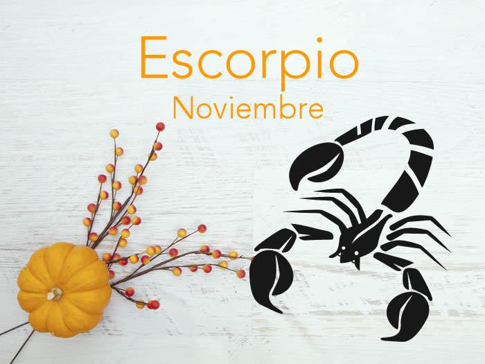 Horóscopo Escorpio Noviembre 2016