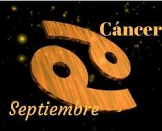Horóscopo Cáncer Septiembre 2017