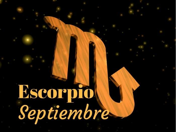 Horóscopo Escorpio Septiembre 2017