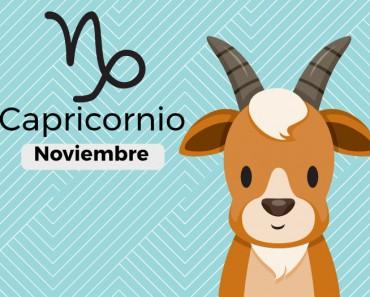 Horóscopo Capricornio Noviembre 2017