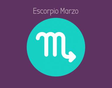 Horóscopo Escorpio Marzo 2018