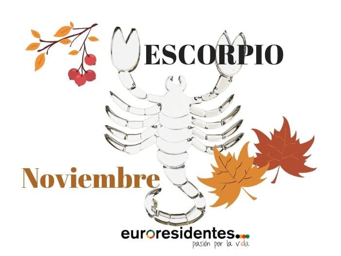 Horóscopo Escorpio Noviembre 2019