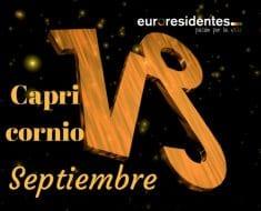 Horóscopo Carpricornio Septiembre 2018