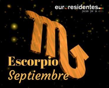 Horóscopo Escorpio Septiembre 2018