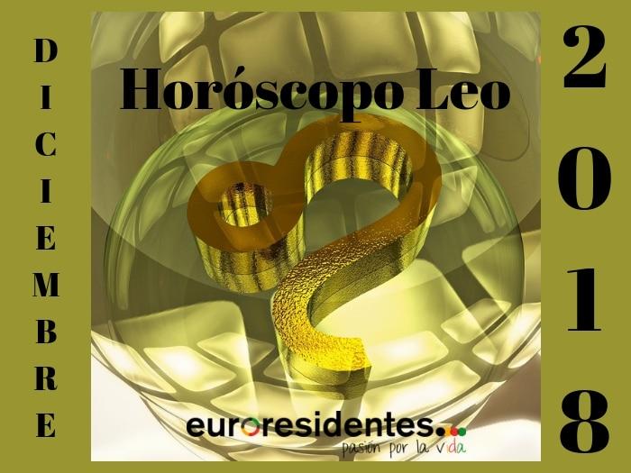 Horóscopo Leo Diciembre 2018