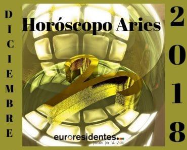 Horóscopo Aries Diciembre 2018
