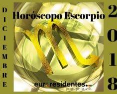Horóscopo Escorpio Diciembre 2018